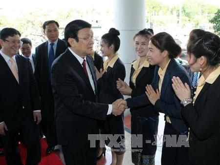 Báo chí Lào đưa đậm nét chuyến thăm của Chủ tịch nước
