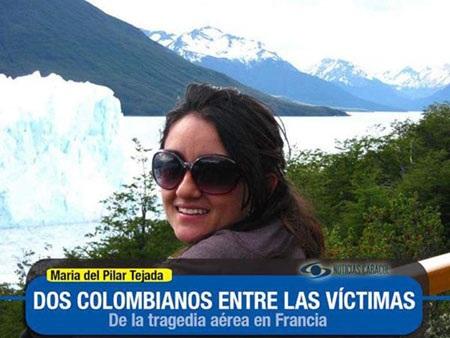 Maria del Pilar Tejada (33 tuổi), một trong hai hành khách người Colombia
