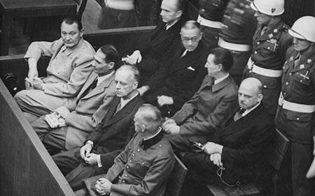Tòa án Nuremberg xét xử các quan chức trong chế độ phát xít Đức (ảnh: Wikipedia)
