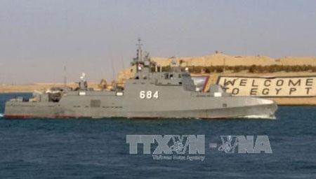 Ai Cập điều tàu chiến tới Yemen (Ảnh: AFP/TTXVN)