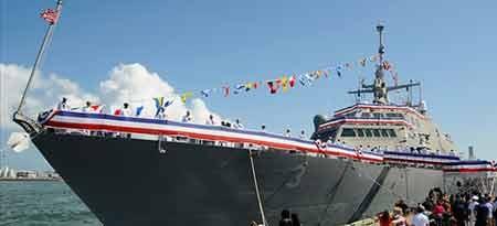 Tàu chiến USS Fort Worth của Mỹ, do Tập đoàn Lockheed Martin chế tạo (ảnh: AP)