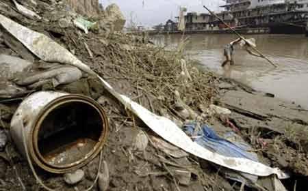 Một dòng sông ô nhiễm ở Trung Quốc