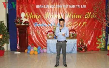 Bạn Hoàng Đan Cô, Đoàn trưởng đoàn Lưu học sinh Việt Nam tại Lào