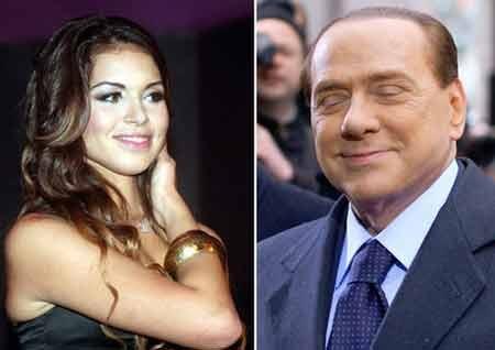 Cô gái làng chơi Ruby (trái) và cựu Thủ tướng Italy Silvio Berlusconi (Nguồn: La Repubblica)