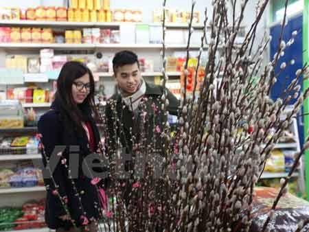 Du học sinh Việt Nam đi sắm Tết tại siêu thị Bảo Long (Ảnh: Đỗ sinh/Vietnam+)