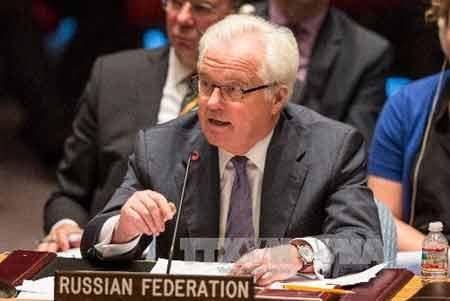Đại diện thường trực LB Nga tại Liên hợp quốc (LHQ) Vitaly Churkin (Ảnh: AFP-TTXVN)\