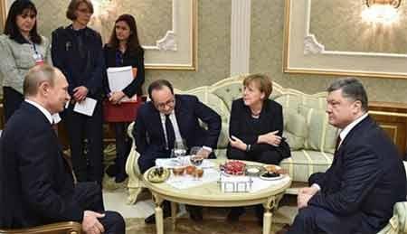 Nguyên thủ quốc gia Đức, Pháp, Nga, Ukraine tại cuộc đàm phán