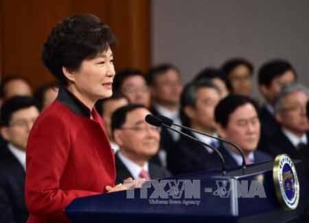 Tổng thống Hàn Quốc Park Geun-Hye (Ảnh: AFP/TTXVN)