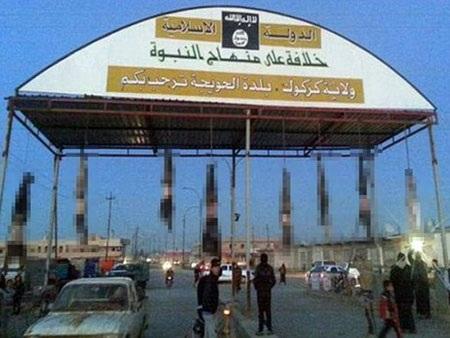 8 thi thể bị IS treo tại cổng vào thành phố Hawija, Iraq