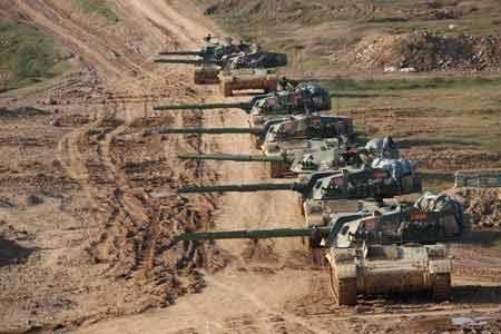 Đoàn xe tăng chiến đấu chủ lực của giới quân đội Trung Quốc (Nguồn: Want China Times)