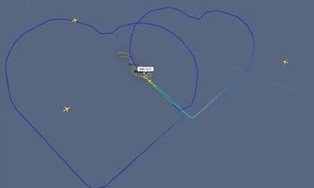 Hình ảnh theo dõi hành trình bay trực tuyến