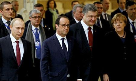 Tổng thống Nga Putin và các nhà lãnh đạo phương Tây. (