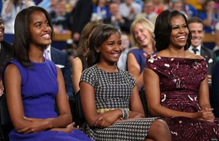 Hai ái nữ của Tổng thống Mỹ Barack Obama, Malia (