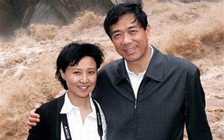 Vợ chồng Bạc Hy Lai và Cốc Khai Lai. (