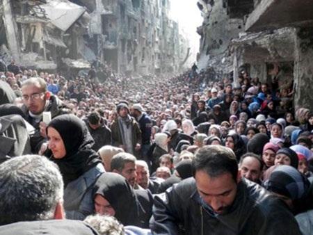 Trại tị nạn Yarmouk tan hoang sau nhiều lần bị tấn công