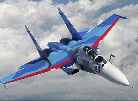Su-30 là một trong những dòng máy bay tiêm kích mới nhất của hải quân Nga hiện nay. (Ảnh: