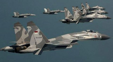 Máy bay chiến đấu Su-30 MK2 và Su-27 của không quân Indonesia