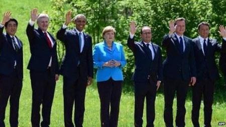 Lãnh đạo các nước G7 tại Hội nghị thượng đỉnh vừa diễn ra tại Đức