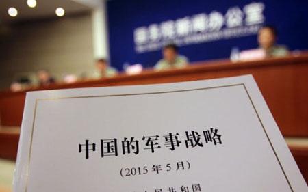 Sách Trắng Quốc phòng được Trung Quốc công bố ngày 26/5. (Ảnh: