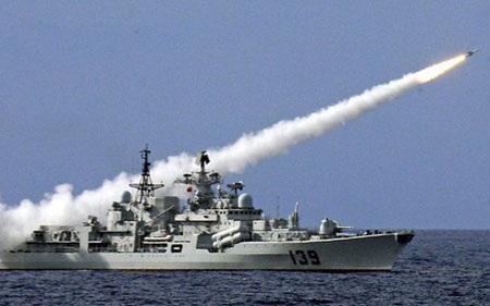Tàu hải quân Trung Quốc. (Ảnh: