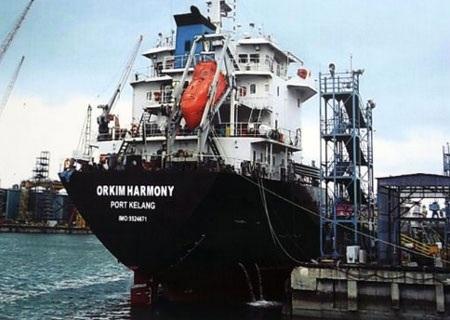 Tàu MT Orkim Harmony của Malaysia trước khi bị bắt cóc. (Nguồn: