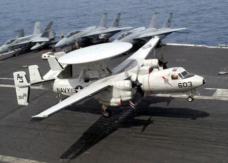 Máy bay cảnh báo sớm E-2D Hawkeye trang bị cho tàu sân bay