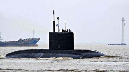 Tàu 185 - Đà Nẵng thực hiện thử nghiệm trên biển ngày 17/12/2014. (Ảnh: