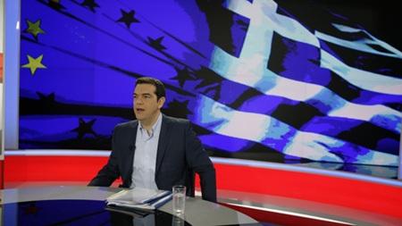 Thủ tướng Alexis Tsipras kêu gọi người dân 'nói không' trước yêu sách của chủ nợ. (Ảnh: