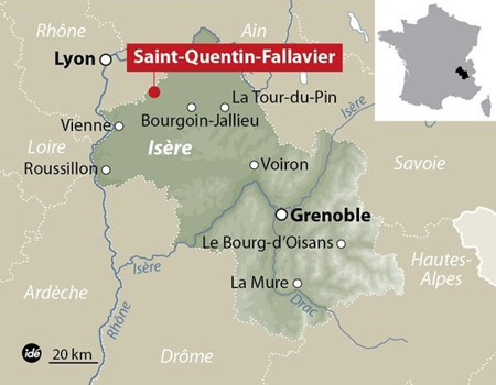 Khu vực xảy ra vụ tấn công ở miền Đông nước Pháp. (Nguồn: