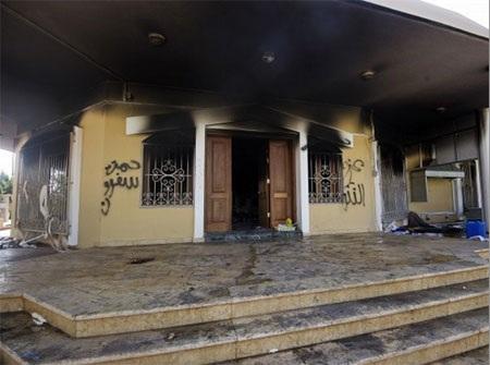 Tổng lãnh sự quán Mỹ tại Libya bị tấn công hồi năm 2012. (Nguồn: