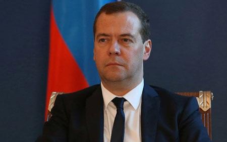 Thủ tướng Nga Dmitry Medvedev cảnh báo sẽ đáp trả đòn trừng phạt của EU (ảnh: