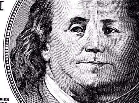Đồng USD và NDT. (