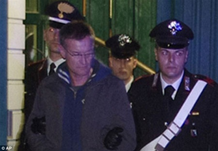 Trùm mafia Massimo Carminati bị bắt giữ vào tháng 12-2014. (Ảnh: