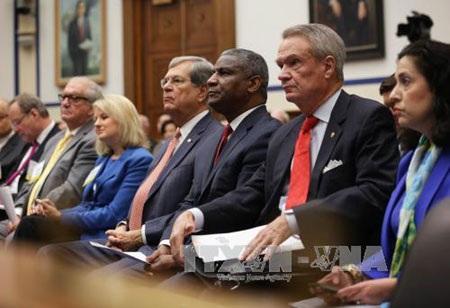 Các thượng nghị sĩ Mỹ tại một phiên họp Thượng viện ở thủ đô Washington ngày 14/5. (Ảnh: