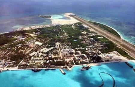 Đảo Phú Lâm trên quần đảo Hoàng Sa của Việt Nam đã bị Trung Quốc cưỡng chiếm. (Ảnh: