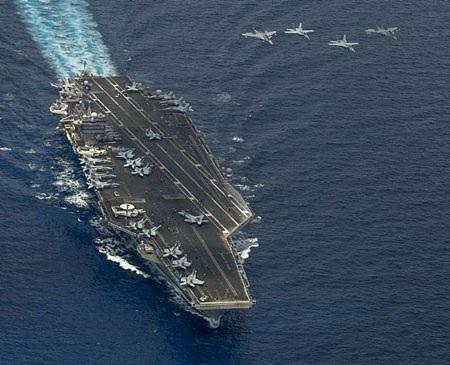 Tàu sân bay Carl Vinson (Mỹ) tham gia tập trận cùng quân đội Malaysia trên Biển Đông