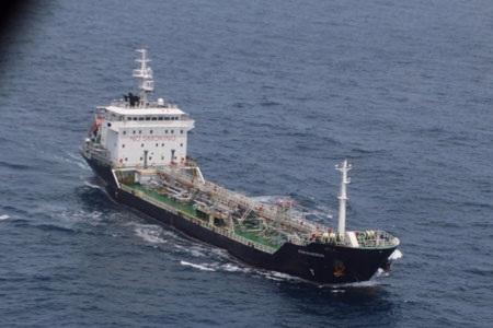 Một bức ảnh của tàu MT Orkim Harmony được Hải quân hoàng gia Malaysia công bố.