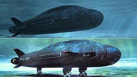 Tàu ngầm SMX-26 có các thiết bị đẩy chuyển hướng và càng hạ cánh