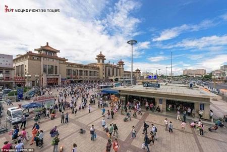 Nhà ga xe lửa Bắc Kinh, nơi Aram bắt tàu đi Triều Tiên. (Nguồn: