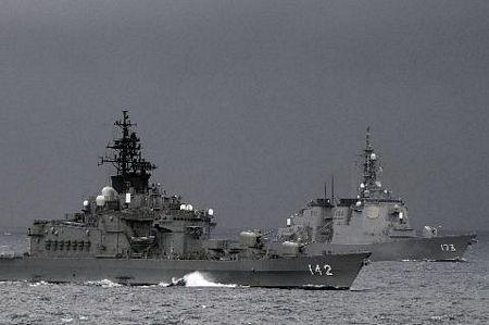 Chiến hạm JDS Hiei (DDH 142) và JDS Kongo (DDG 173) của Nhật Bản