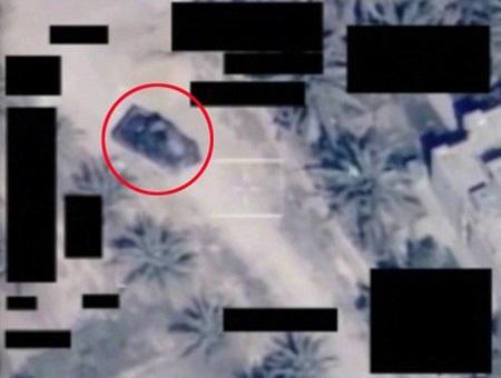Máy bay Reaper bám theo mục tiêu là chiếc xe tải chất đầy thuốc nổ của IS.