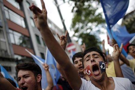Biểu tình chống Trung Quốc tại Thổ Nhĩ Kỳ. (Nguồn: