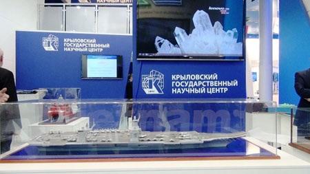 Mô hình tàu sân bay thế hệ mới của Nga.