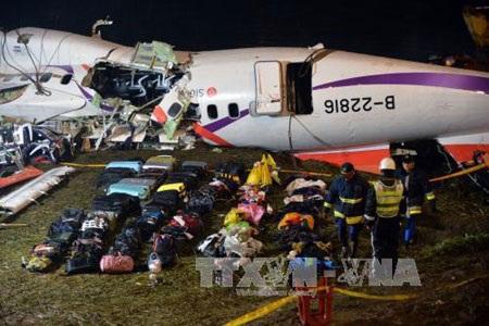 Hiện trường vụ máy bay số hiệu GE235 rơi hôm 4/2/2015. (Ảnh: