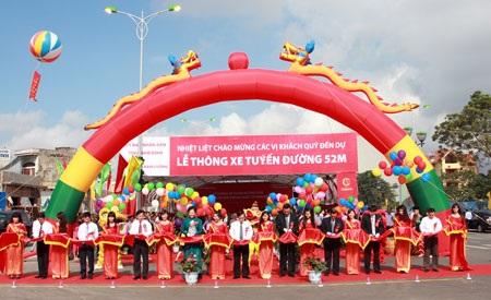Sau khi thông xe đường 52m là tuyến phố hiện đại của TP. Nam Định