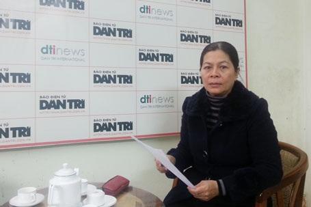 Từ năm 2013, bà Đỗ Hải Lan nhiều lần gửi đơn kêu cứu đến báo Dân trí