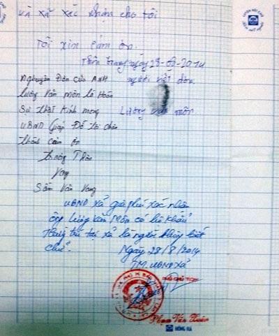 Chính quyền địa phương xác nhận việc ông Lương Văn Môn không biết chữ từ nhỏ.