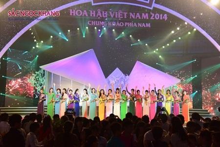 Sắc Ngọc Khang chúc mừng 20 thí sinh phía Nam lọt vào chung kết HHVN 2014