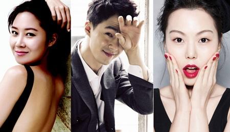 Jo In Sung đá Kim Min Hee (phải) và Gong Hyo Jin