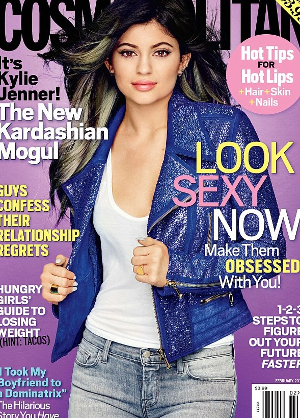 Kylie Jenner trên bìa tạp chí Cosmopolitan, số tháng 2/2015.